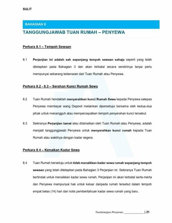 Tanggungjawab Tuan Rumah - Surat Perjanjian Sewa Rumah